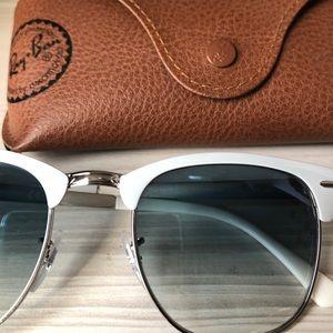 White Clubmaster Sunglasses